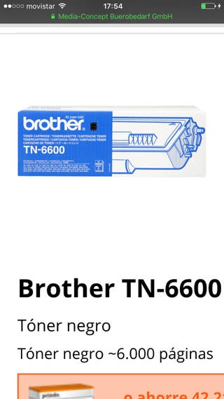 Toner Brother TN-6600 original
