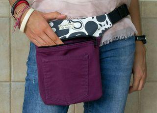 Riñonera bandolera bolso lila
