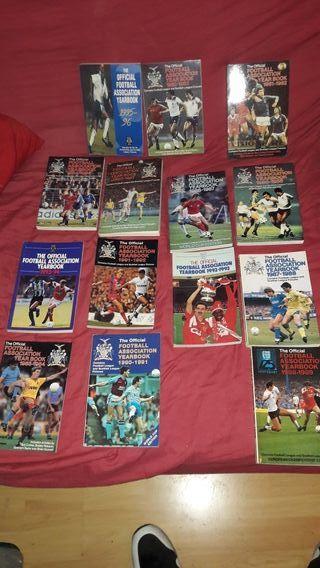 libros 14 Anuarios liga inglesa años 80-94