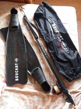 Fusil de carbono y aletas de carbono marca Beuchat
