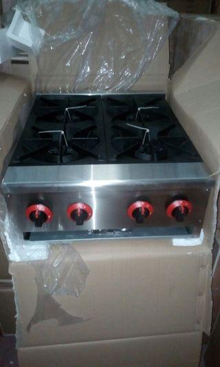 cocina a gas industrial 4 fuegos nuevas