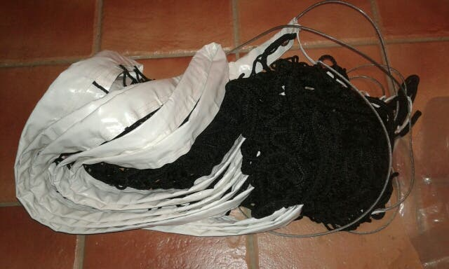 red de pista de voley voleibol