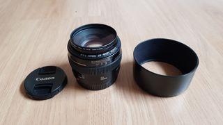 Objetivo fotografía Canon 50mm 1.4