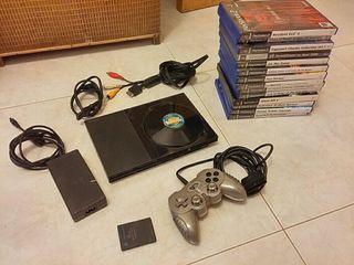 Consola ps2 + 14 juegos