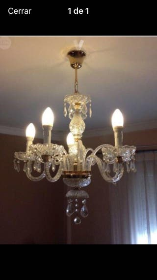 Lámpara de cristales