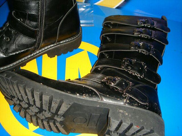 botas femeninas piel negras talla 45 poco uso