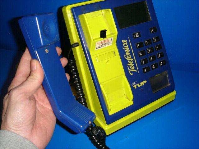 cabina teléfono TELETUB telefónica funciona