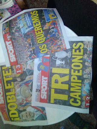 periódicos sport Barcelona títulos del mismo año
