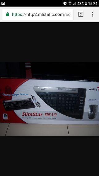 teclado y raton inalambrico slimstar r610
