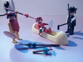 LOTE INDIOS Y SHERIFF - FAMOBIL PLAYMOBIL, AÑOS 80