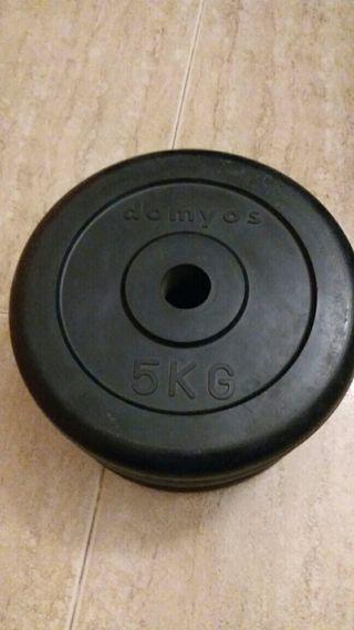 Pesas de caucho 5 kg