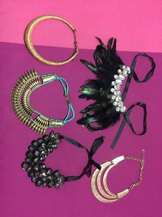 pendientes, collares, se vende juntos!!!
