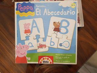 Puzzles abecedario de Peppa Pig