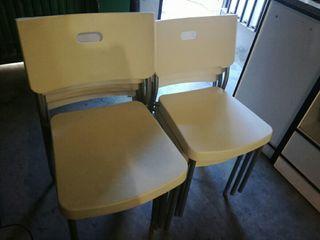 sillas con respaldo polipropileno