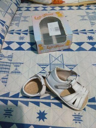 Sandalias León de piel Blancos