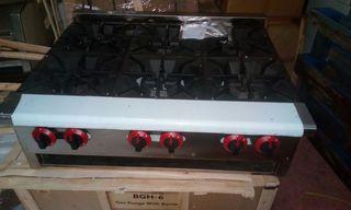 cocina a gas nueva sobremesa 6 fuegos