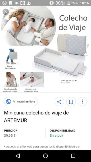 Colchón minicuna colecho