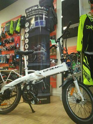 bicicleta eléctrica plegable 20 pulgadas littium