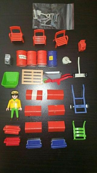 Playmobil lote para taller mecánico.