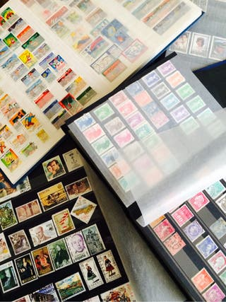 Collection de timbres et albums