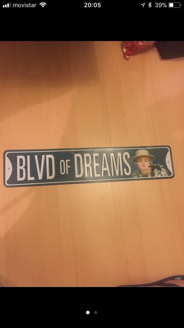Placa boulevard of dreams