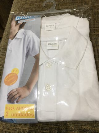 Polos camisetas blanca