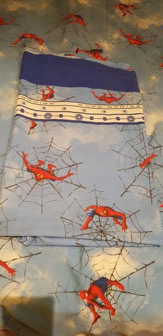 cortina y juego de sabana+funda nordica