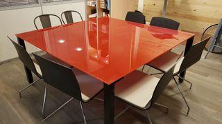 mesa encimera de vidrio