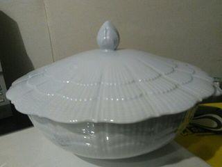 Sopera blanca porcelana francesa de Limoges