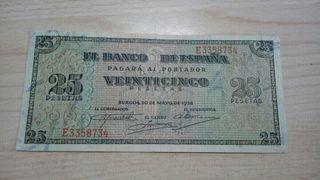 25 pesetas 1938 EBC