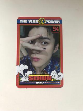 Sehun The War Photocard