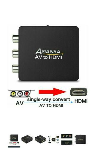 AMANKA Mini Conversor AV a HDMI Convertidor