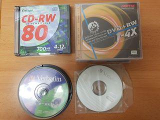 Pack CD-RW DVD+RW CD-R Tarrina Virgen 700 MB 4.7GB