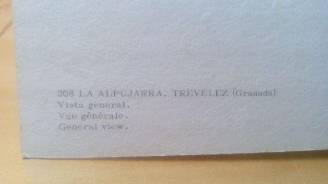 POSTAL TREVELEZ ALPUJARRA