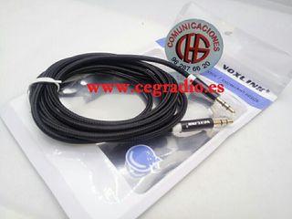 VOXLINK 2m Cable de Audio Jack 3.5mm Macho a macho