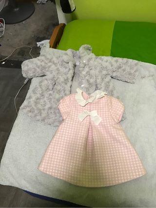 Vestido y chaqueta niña 3 mese