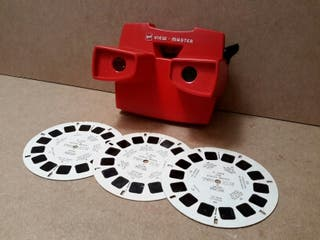 Antiguo View Master + 3 discos