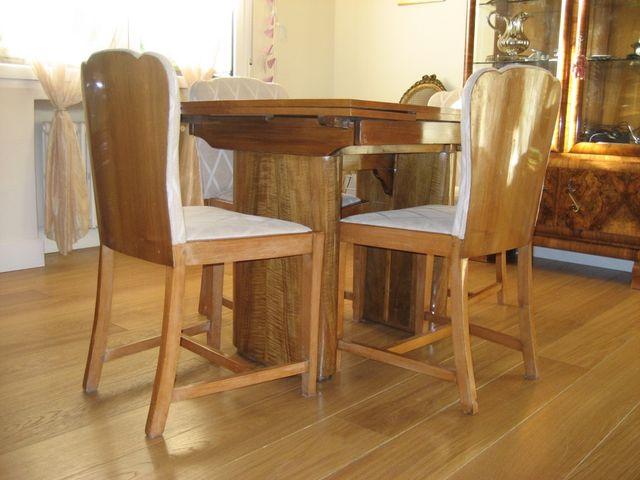 Mesa comedor y sillas art deco de segunda mano por 350 en madrid en wallapop - Wallapop mesa comedor ...