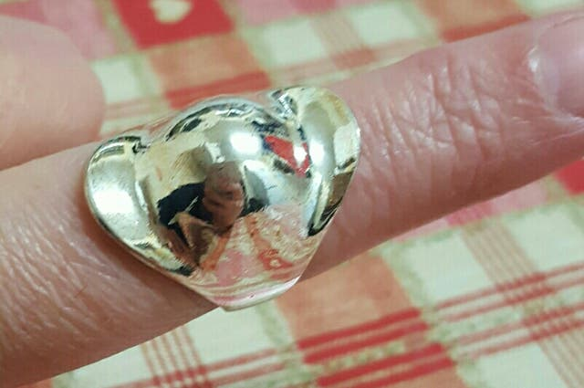 925 silver Helmet shaped thumb ring