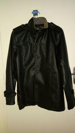 Chaqueton abrigo hombre polipiel nuevo