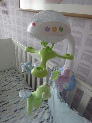 Carrusel para cuna de Bebe luz y sonidos
