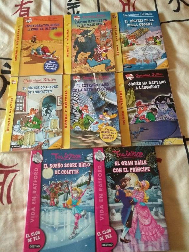 Libros Gerónimo Stilton y Tea Stilton
