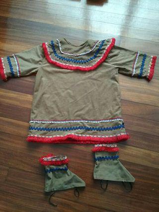 Disfraz indio talla 2 unisex