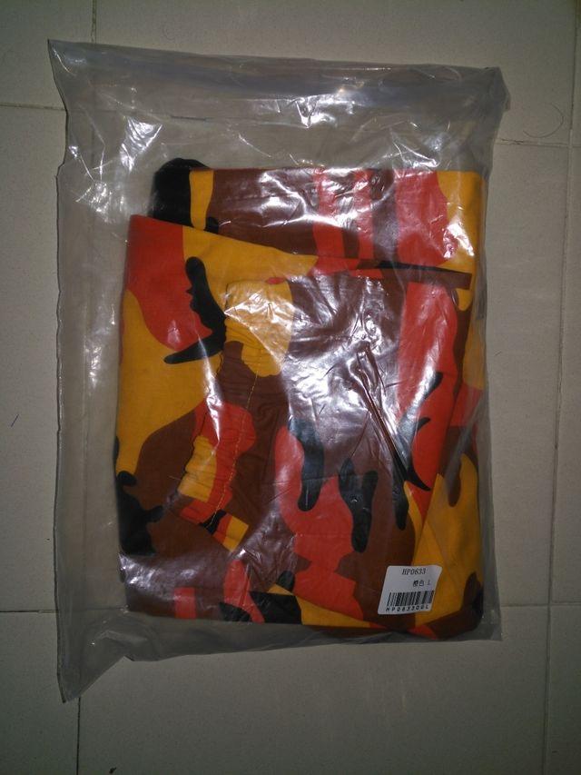 pantalones camuflaje naranja