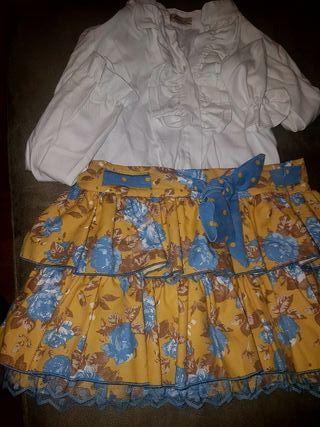vestido y falda con camisa