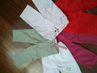 pantalones niña pack-5 talla 12