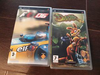 PSP con dos juegos