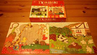 2 Puzzles animales y caserio