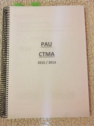 Examenes PAU de CTMA