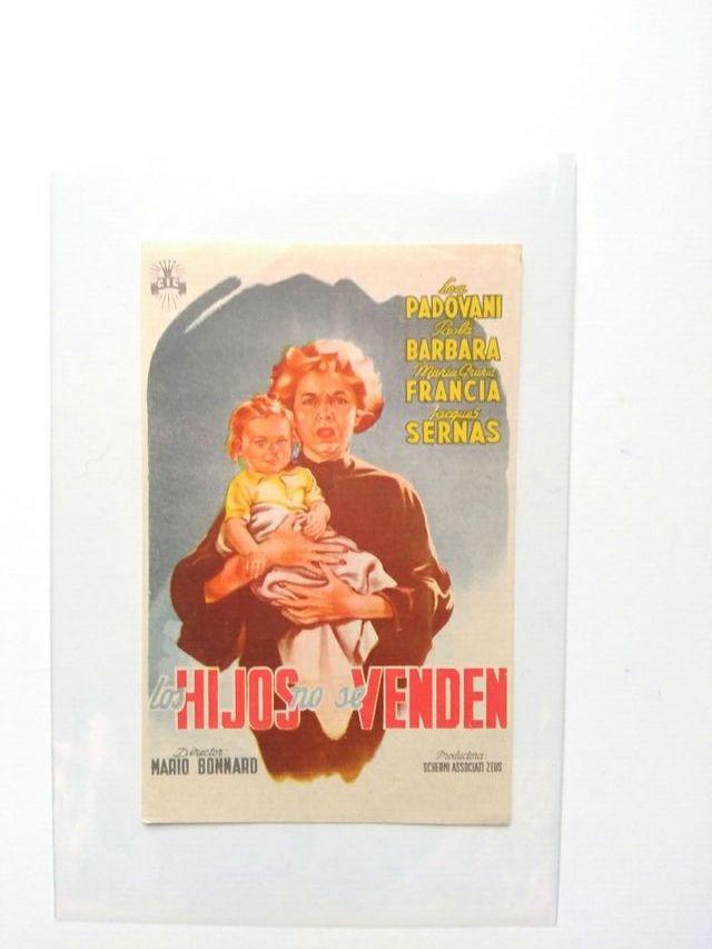 """folleto de mano """"Los hijos no se venden"""""""
